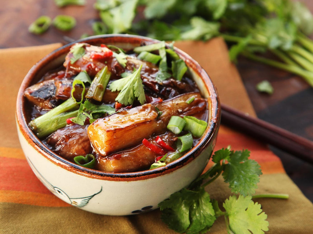 Sichuan-Style Hot and Sour Eggplant