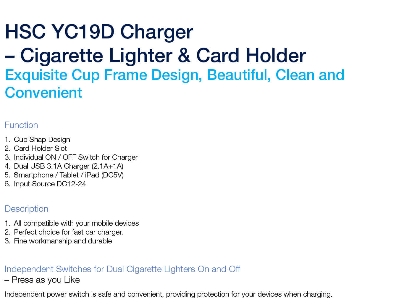 hsc-yc-19d-car-charger-cigarette-lighter-card-holder