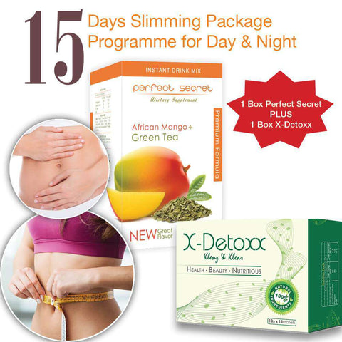 Image of The Perfect Secret Slim n Detox Drink | Day & Night Pack - almaxpress