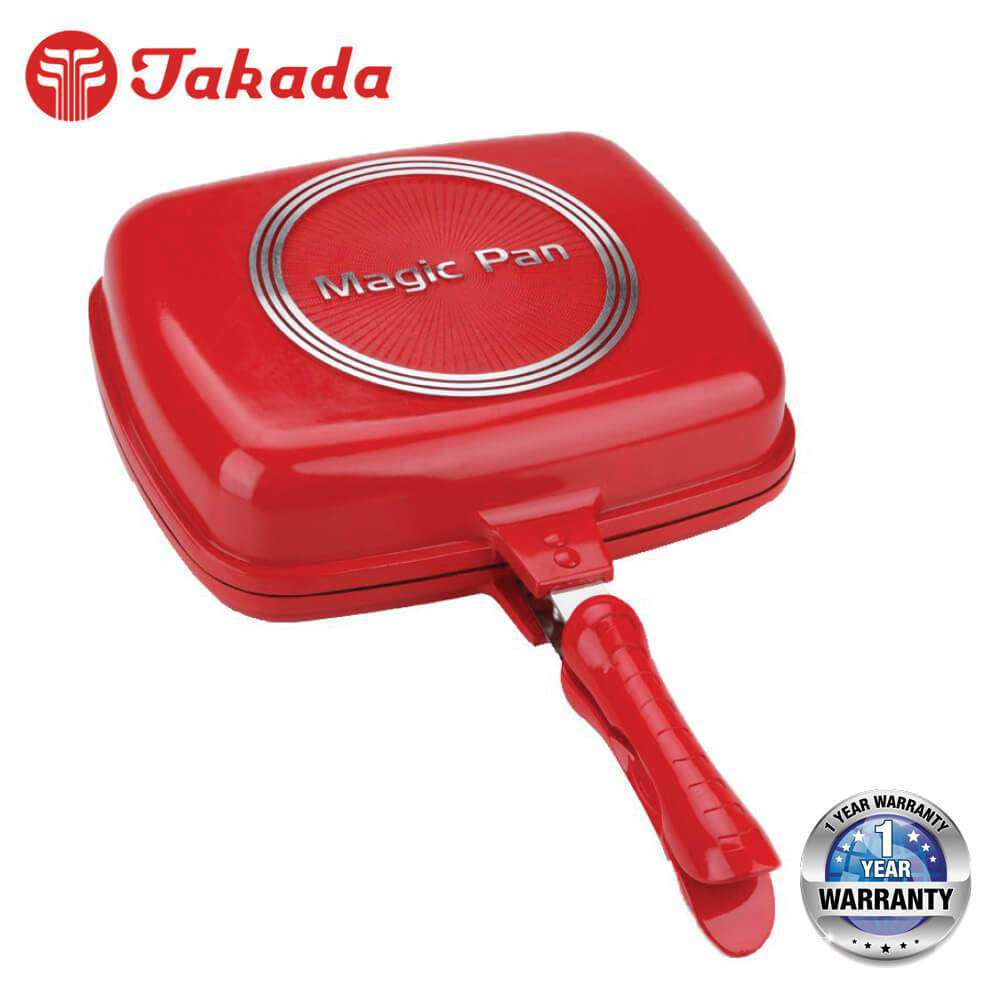 TAKADA TK-DGP01 Ceramic Magic Grill Pan Red - almaxpress