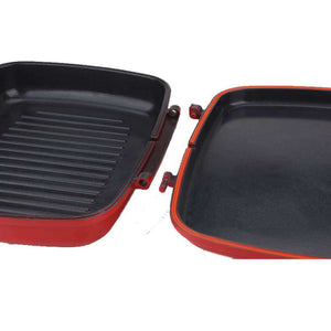 TAKADA TK-DGP01 Ceramic Magic Grill Pan Red