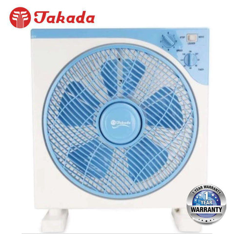 Image of TAKADA TKBF-30 Box Fan with 3 Wind Speeds and Rotating Louver - almaxpress