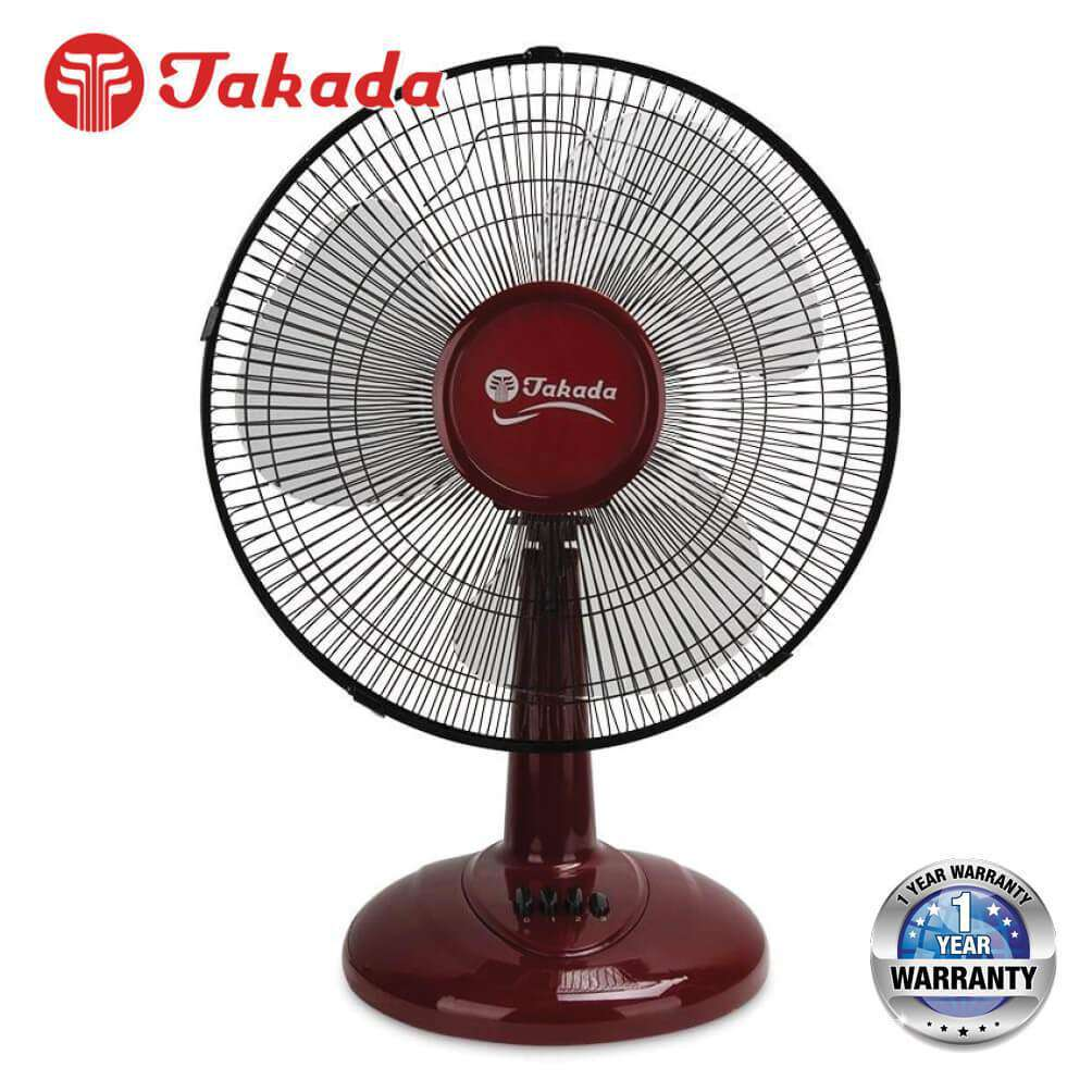 TAKADA TKFT-12A 12-inch Desk Fan with 3 Wind Speed – [Red / Blue] - almaxpress