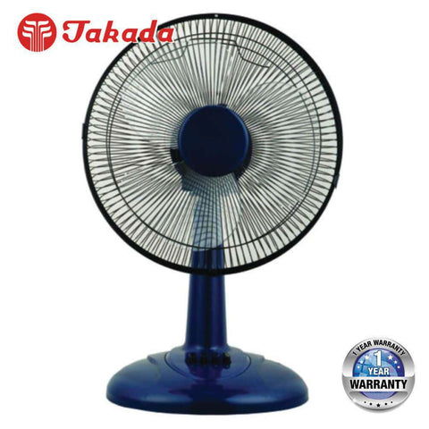 Image of TAKADA TKFT-12A 12-inch Desk Fan with 3 Wind Speed – [Red / Blue] - almaxpress