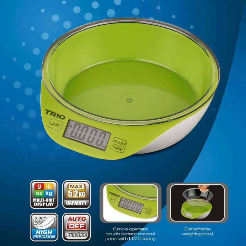 TRIO TKS-867 Digital Kitchen Scale – Capacity 5.2kg