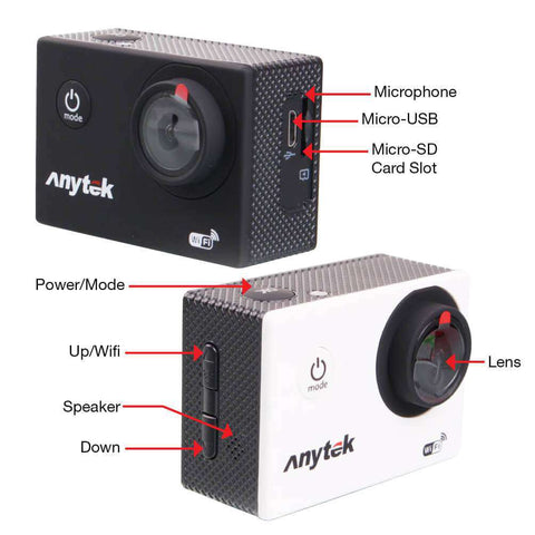 Image of Anytek AC-18 Action Camera 4k Waterproof