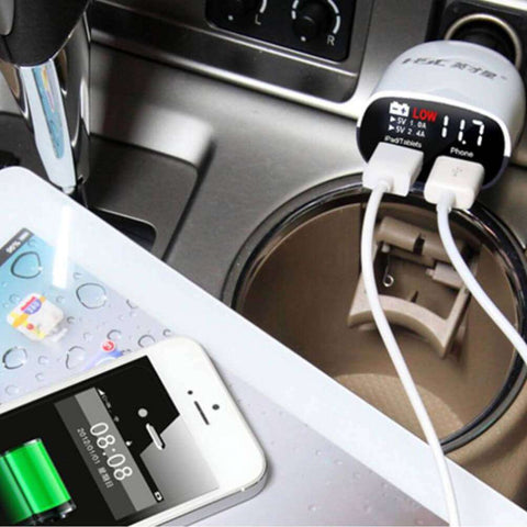 Image of HSC YC-01 Intelligent Car Charger with Volt Meter - almaxpress