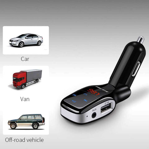 HSC YC-37 Dual USB 3.1A Car Charger Bluetooth MP3 Player Fast Charge Support for TF Card Play - almaxpress