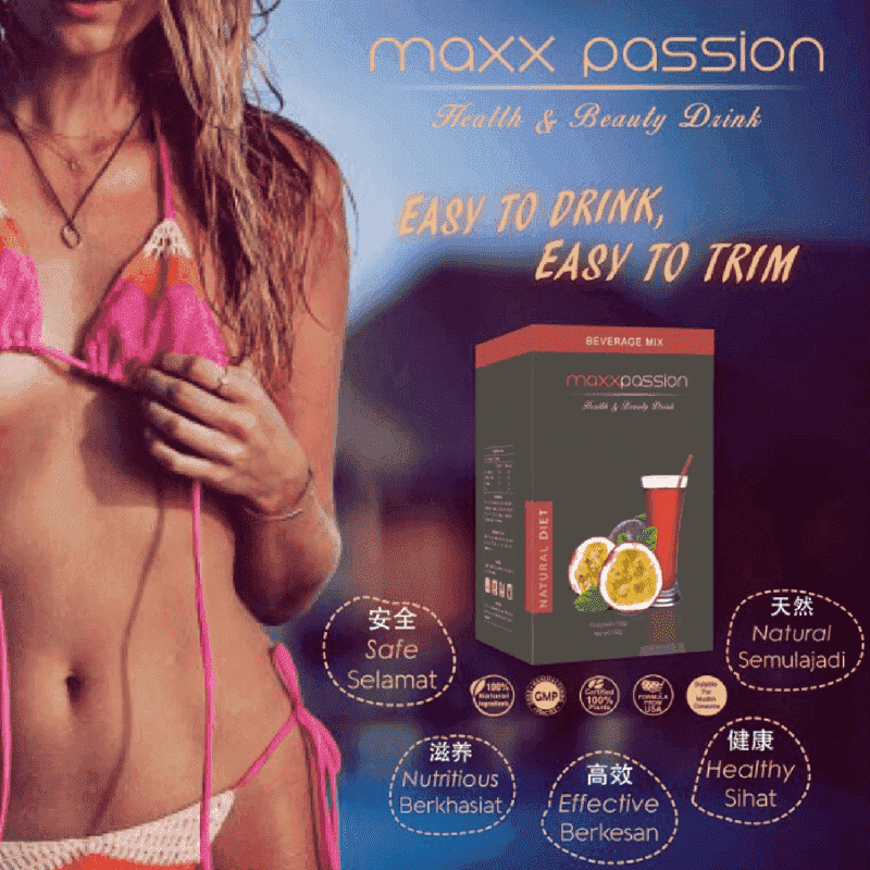 The Secret Passion Fruit Slimming Drink | Buy 3 FREE 1