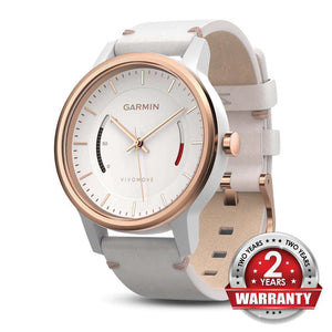 GARMIN Vivomove Classic Watch with Activity Tracking - White - almaxpress