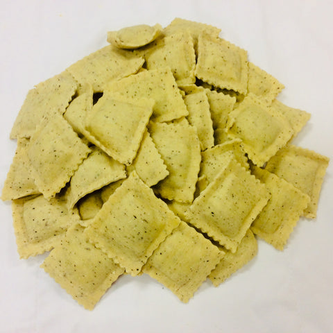 Black Pepper Pasta Wild Mushroom Filled Ravioli