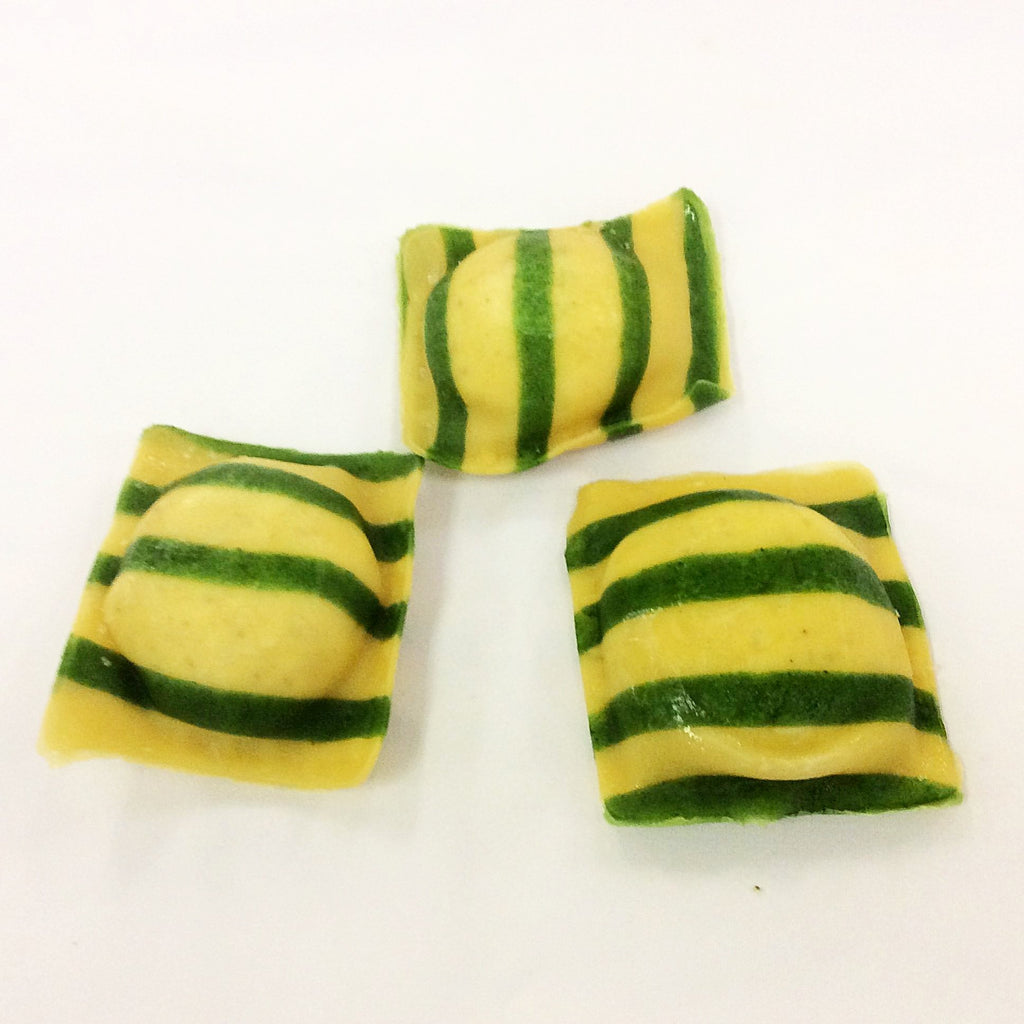 Striped Spinach Cheese Ravioli