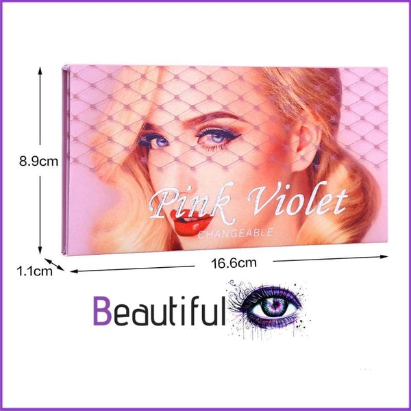 Palette Ultra Violet 18 couleurs  BeautifulEyes dimensions