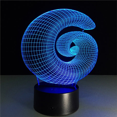3D Lamp Visual Light Effect Touch Switch & Remote Control Colors Changes Night Light - £39.99