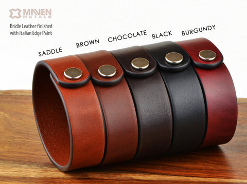 Mens Personalized Leather Bracelet - Custom Coordinates or Any Text 40 Char! - £40.00