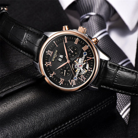 BINSSAW Men Luxury Automatic Mechanical Wristwatch - £65.00