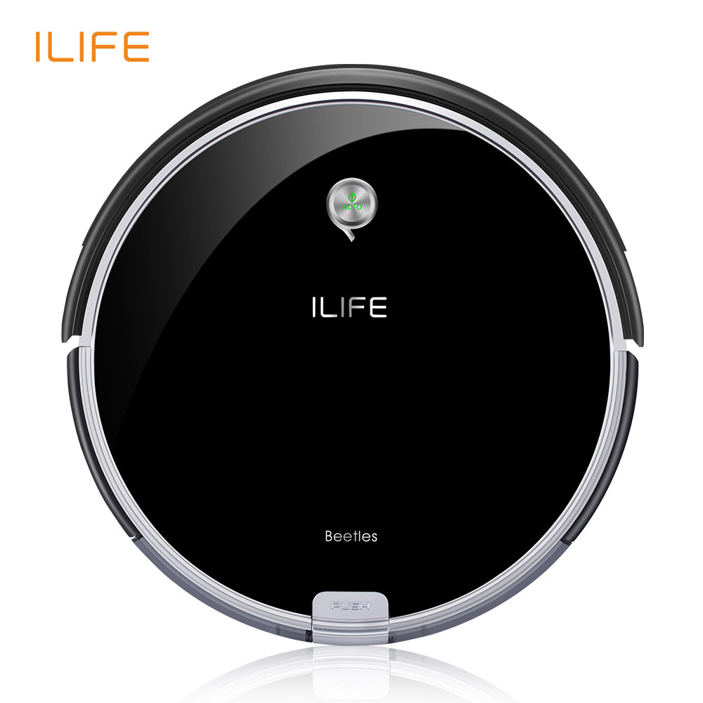 ILIFE A6 Robotic Vacuum Cleaner with Piano Black - ShahShack