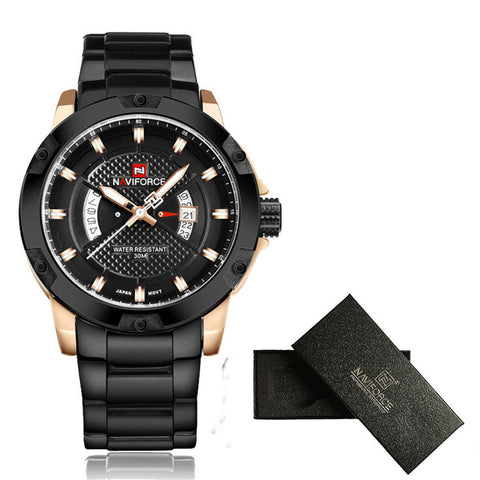 NAVIFORCE Steel Watch Quartz Watch Analog Waterproof - £35.00