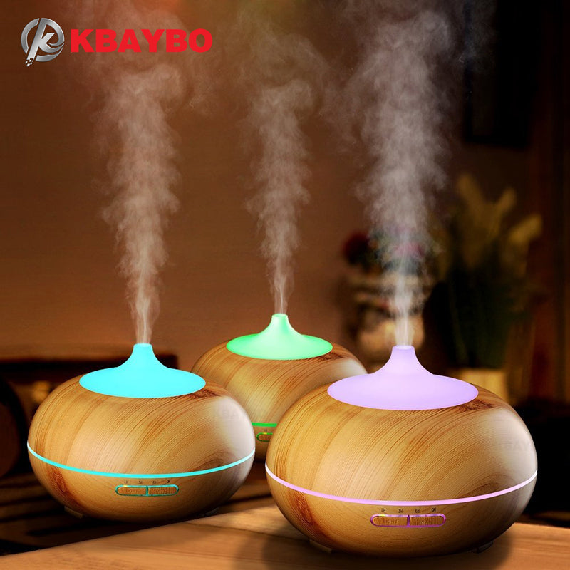 300ml Aroma Diffuser  Wood Grain Essential Oil Diffuser Ultrasonic Cool Mist Humidifier - ShahShack