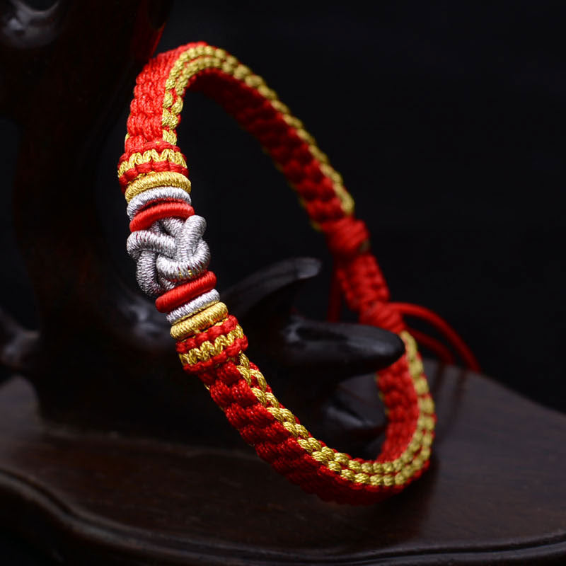 Couple luck Chinese knot Bracelet Thai hand rope For Men And Women - ShahShack