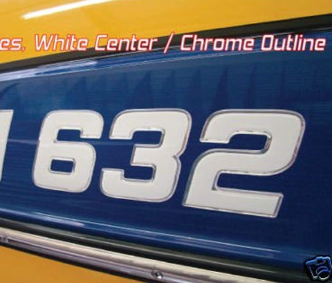 Master Series Domed Numbers Domed Lettering