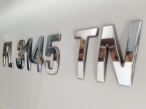 Boat Logo Matching Style Registration Numbers