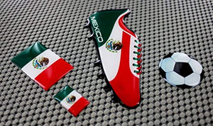 Mexico World Cup Soccer Shoe Raised Clear Domed Lens Decals (4 piece Set)