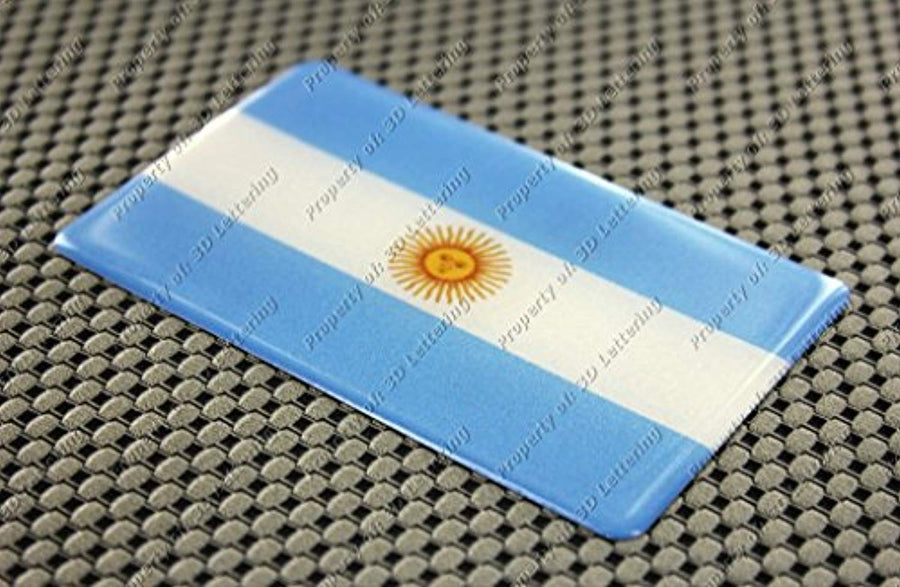 Argentina Flag Raised Clear Domed Lens Decal