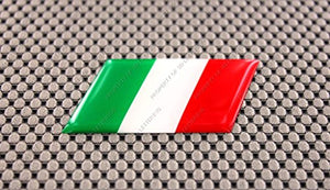 "Italy Flag Raised Clear Domed Lens Decal 3""x 1.5"""