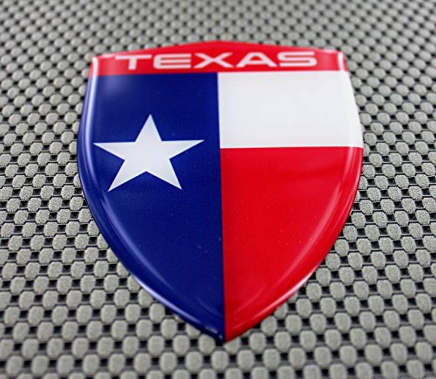 Texas Flag Raised Clear Domed Lens Decal