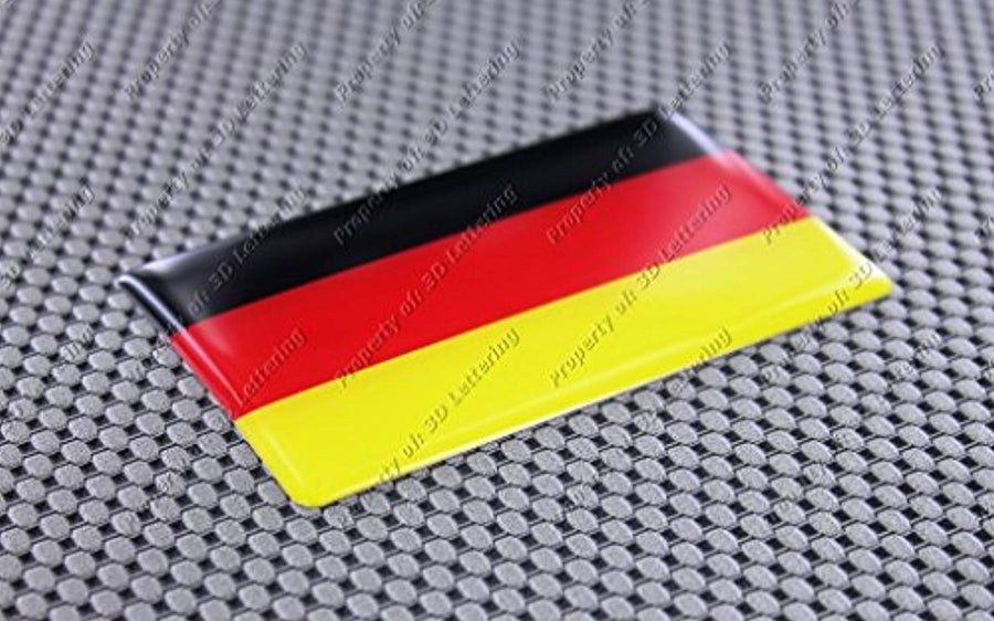 "Germany Flag Raised Clear Domed Lens Decal 4""x 2.5"""