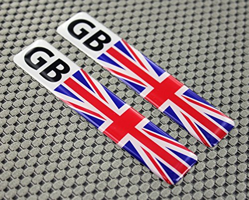 "England Union Jack Flag Raised Clear Domed Lens Decal Set 4""x 1"""