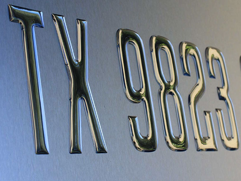 Block Series Domed Boat Registration Numbers Chrome