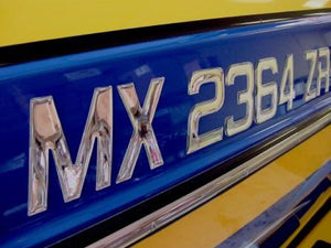 Master Series Domed Lettering Boat Registration Numbers Plain Chrome