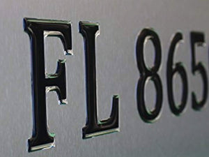 Pontoon Style Domed Boat Registration Numbers Black & Chrome