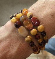 Amber and Mookaite Bracelet