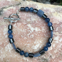Kyanite and Hematite Bracelet