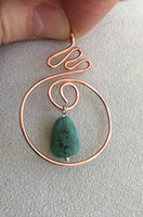 Copper Sunset Pendant with Turquoise