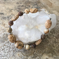 Picture Jasper and Sandalwood Bracelet