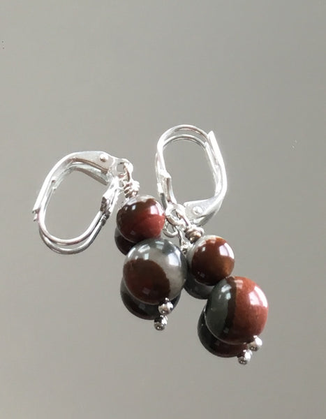 Polychrome Jasper Earrings on Fleur Leverbacks