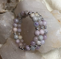 Kunzite and Sterling Silver Bracelet