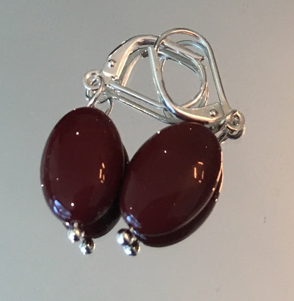 Mookaite Oval Earrings