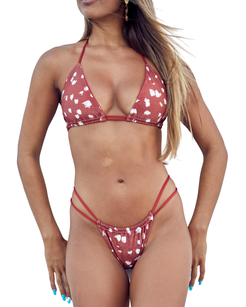 Double Strap Animal Print Bikini Bottom