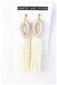 Ivory Loop Tassel Earrings - KnotsandPipes