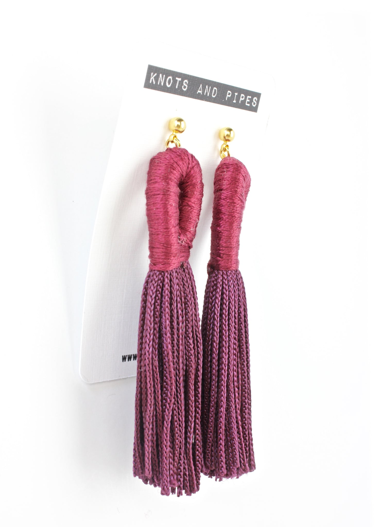 Mustard Loop Tassel Earrings - KnotsandPipes