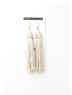 Champagne Beehive Knot Tassel Earrings - KnotsandPipes