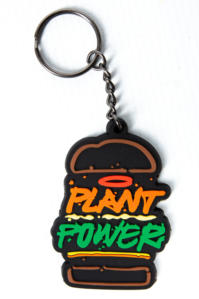 PLANT POWER RUBBER KEY RING