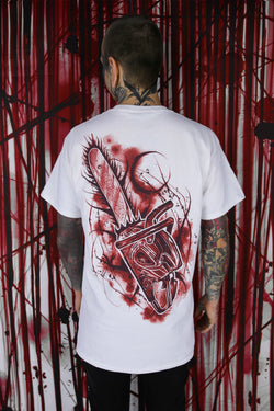 CHAINSAW T SHIRT WHITE