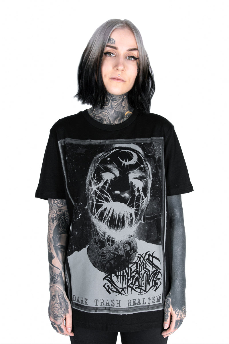 DARK TRASH REALISM TSHIRT BLACK