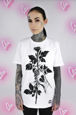 A ROSE FOR YOU TSHIRT WHITE